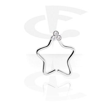 Кольцо для пирсинга в форме звезды