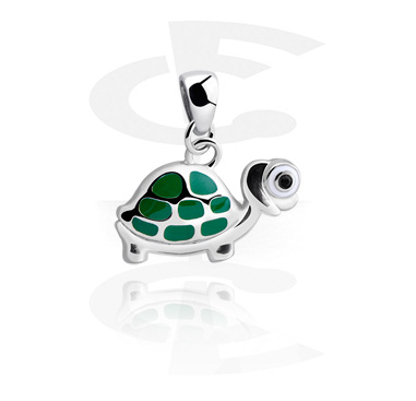 Pendants, Pendant with sweet turtle, Surgical Steel 316L