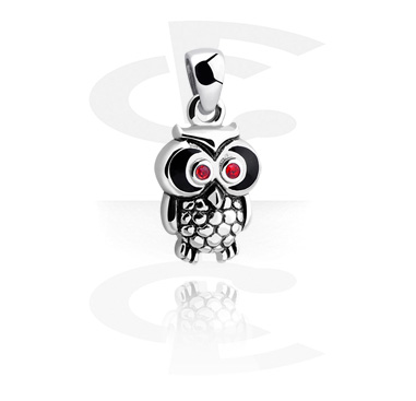 Pendants, Pendant with sweet owl, Surgical Steel 316L