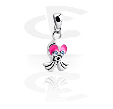 Pendants, Pendant with sweet cuttlefish, Surgical Steel 316L