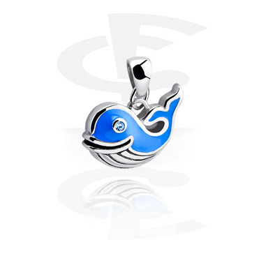 Pendants, Pendant with sweet whale, Surgical Steel 316L