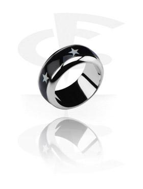 Ring met afbeelding in gietstaal