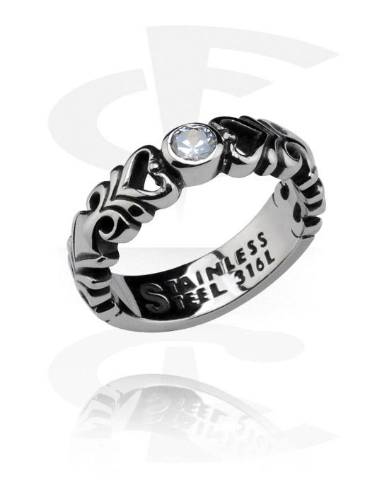 Pierścionki i obrączki, Ring, Stal chirurgiczna 316L