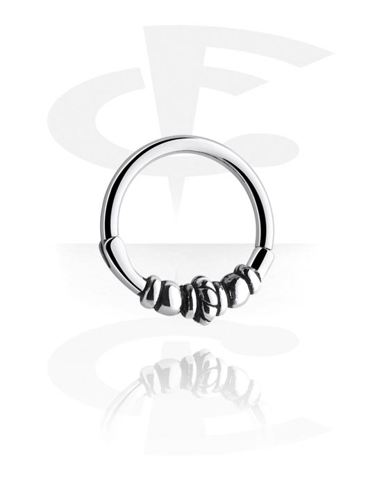 Alke za piercing, Hinged Segment Ring, Kirurški čelik 316L