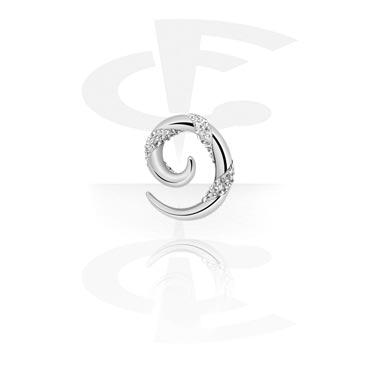 Surgical Steel Cast Crystaline Spiral