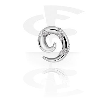 Surgical Steel Cast Crystaline Spiral