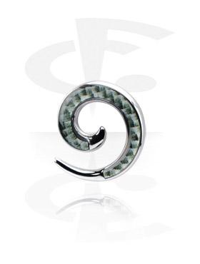 Dehnungszubehör, Surgical Steel Cast Picture Spiral, Chirurgenstahl 316L
