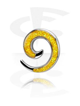 Espiral Glitterline para alargar de aço cirúrgico fundido