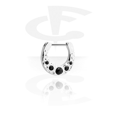 Nose Jewellery & Septums, Hinged Septum Clicker, Surgical Steel 316L