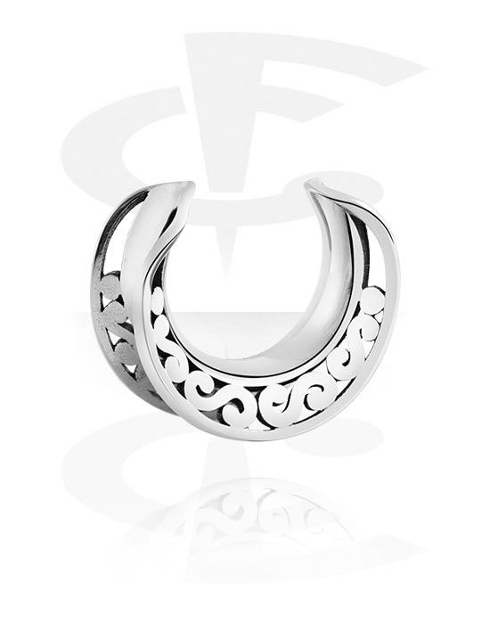Tunnels & Plugs, Half Tunnel, Surgical Steel 316L