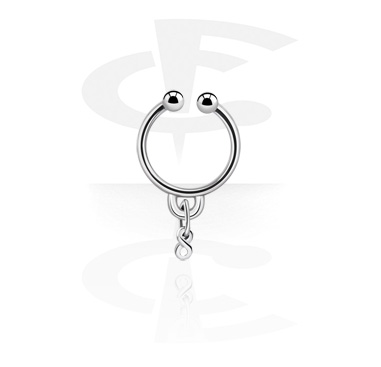 Fake Piercings, Fake septum with Charm, Surgical Steel 316L