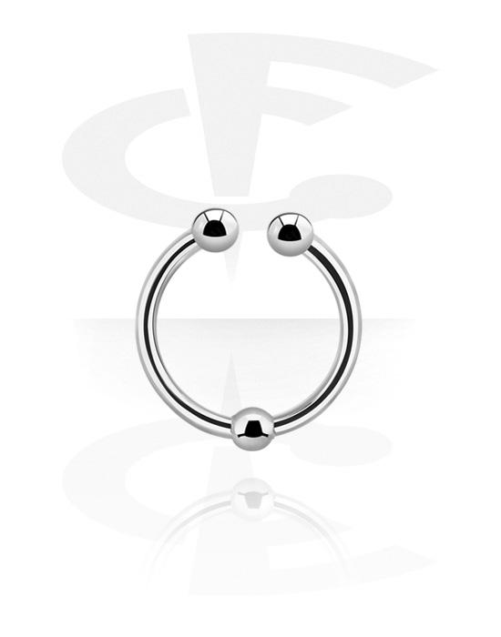 Imitacja biżuterii do piercingu, Fake septum, Stal chirurgiczna 316L