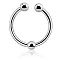 Falešné piercingové šperky, Fake septum, Surgical Steel 316L