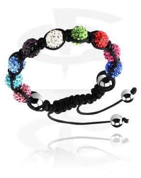 Armband, Crystal-Balls Bracelet, Cotton