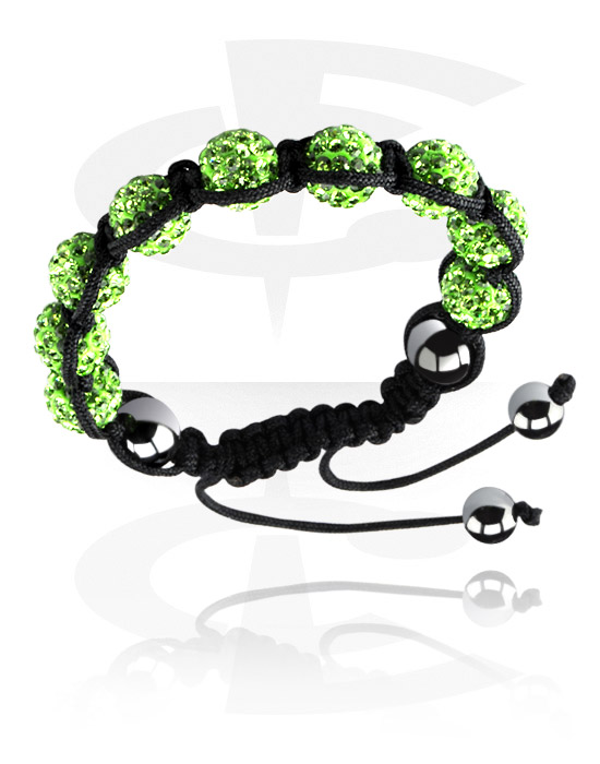 Bransolety, Crystal-Balls Bracelet, Cotton