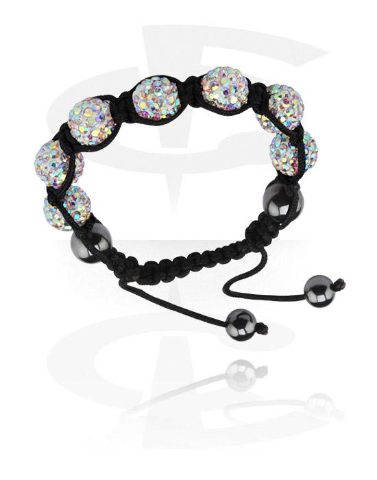 Narukvice, Crystal-Balls Bracelet, Cotton