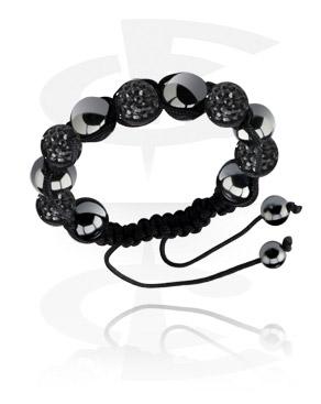 Bracelets, Bracelet avec boules strass, Cotton