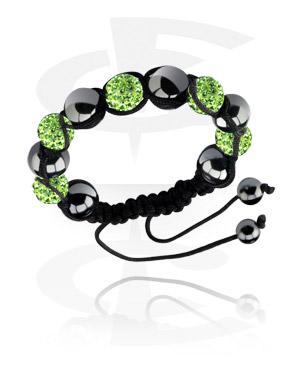 Armbånd med glitrende perler