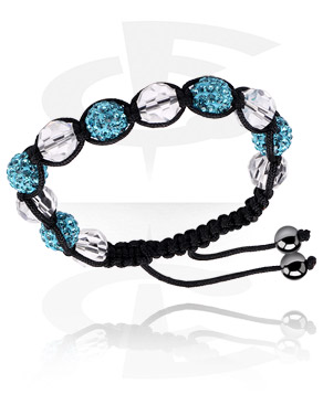 Bracelets, Crystal-Balls Bracelet, Cotton