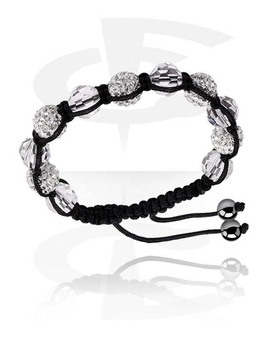 Narukvice, Fashion Bracelet s crystal stones, Pamuk