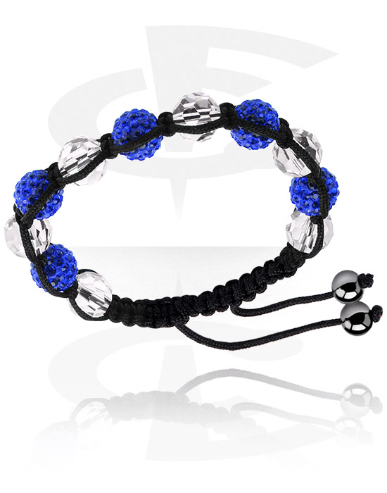 Bransolety, Fashion Bracelet z crystal stones, Bawełna