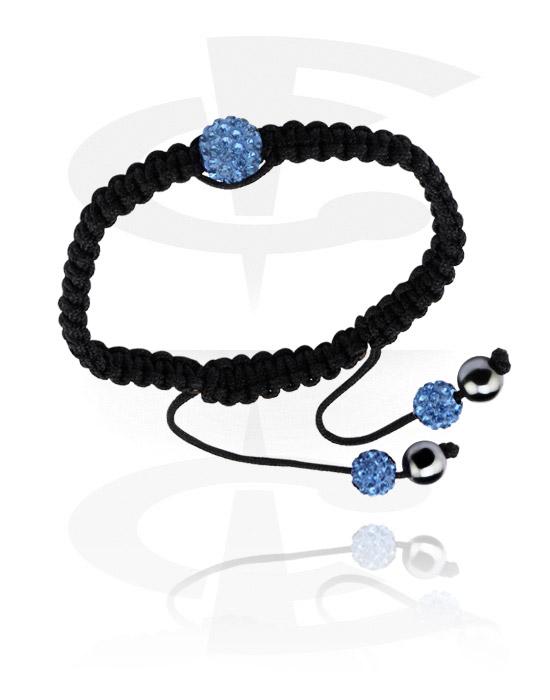Bracciali, Crystal-Balls Bracelet, Cotton