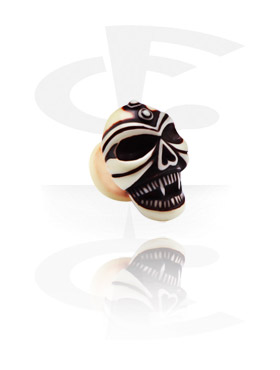 Painted Plug with Skull