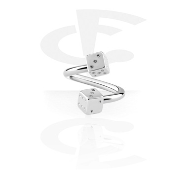 Spirals, Spiral with dice attachment, Surgical Steel 316L