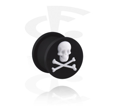Tunnels & Plugs, Plug with Skull, Silicone