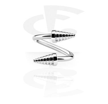 Spiraalikorut, Spiral kanssa cones, Surgical Steel 316L