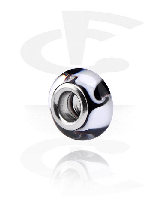 Beads, Bead für Bead-Armbänder, Glas, Chirurgenstahl 316L