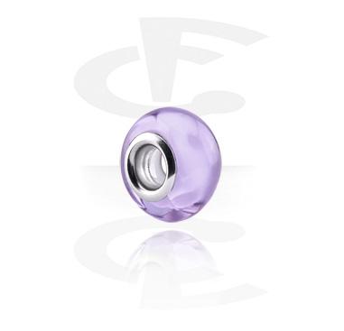 Cuentas, Cuenta de cristal para pulsera de cuentas, Acero quirúrgico 316L, Vidrio