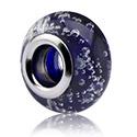 Beads, Perle en verre pour bracelets à perles, Acier chirurgical 316L, Verre
