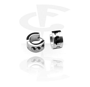 Earrings с Yin-Yang Design