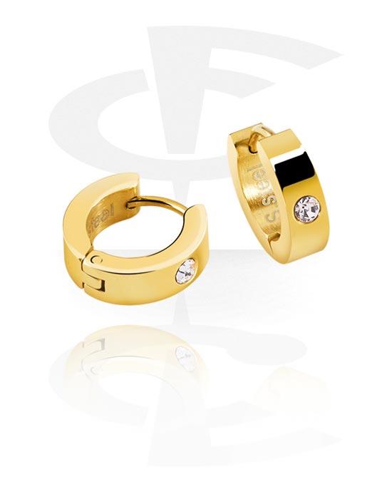 Náušnice, Earrings, Pozlacená chirurgická ocel 316L