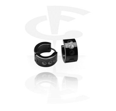 Boucles d'Oreilles, Boucles d'oreilles avec Motif le yin et le yang, Acier chirurgical 316L