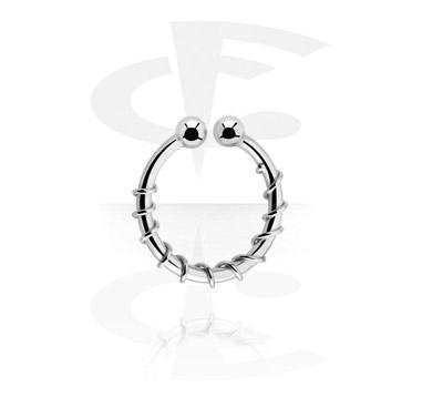 Imitacja biżuterii do piercingu, Fake Nose Ring, Surgical Steel 316L