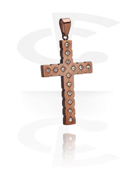 Riipukset, Pendant kanssa crystal stones, Rosegold Plated Surgical Steel 316L