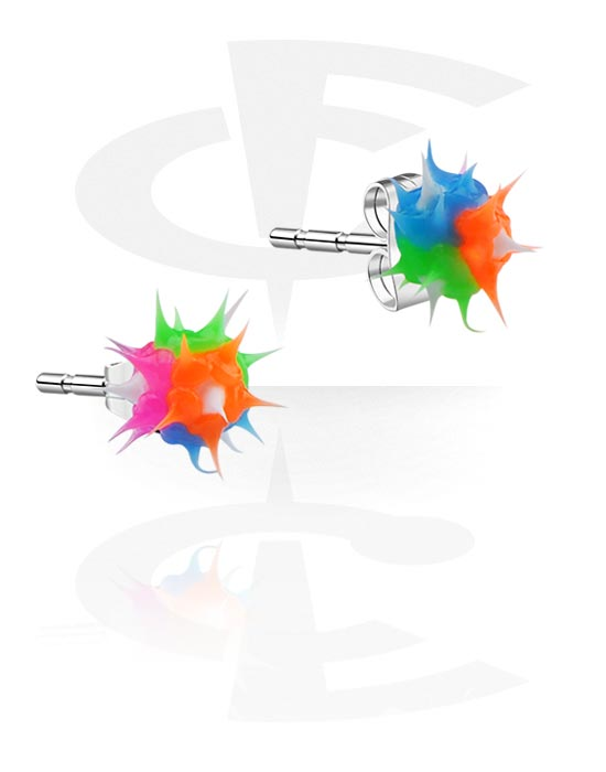 Náušnice, Ear Studs, Chirurgická ocel 316L, Silikon