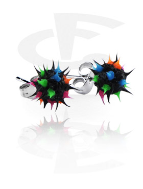 Silicone Spikey Ball Studs