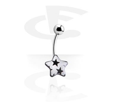 Curved Barbells, Star Picture Banana, Surgical Steel 316L