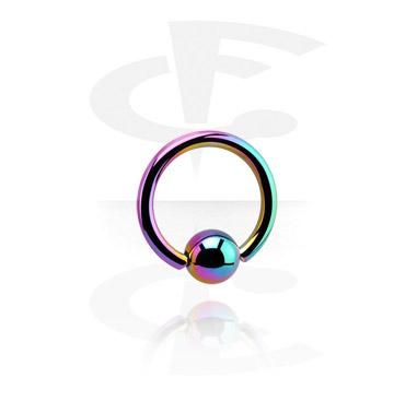 Alke za piercing, Ball Closure Ring, Titanium