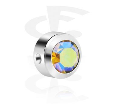 Einzelteile & Zubehör, Kristallstein-Scheibe für Ball Closure Rings, Titan