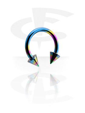 Circular Barbell, Circular Barbell con Cones, Titanio