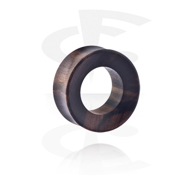 Tunnels & Plugs, Double Flared Tunnel, Wood