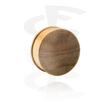 Tunnels & Plugs, Ribbed Plug, Teak
