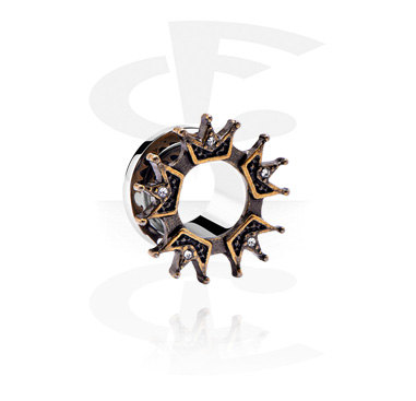 Tunnels & Plugs, Tunnel with Crown Design, Surgical Steel 316L