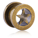 Tunnels & Plugs, Tunnel with star design, Surgical Steel 316L