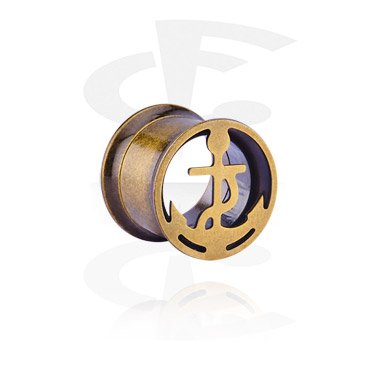 Tunnels & Plugs, Tunnel with Anchor Design, Surgical Steel 316L