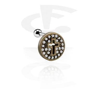 Helix / Tragus, Tragus Piercing with , Surgical Steel 316L